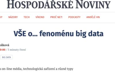 [Hospodářské noviny] VŠE o… fenoménu big data